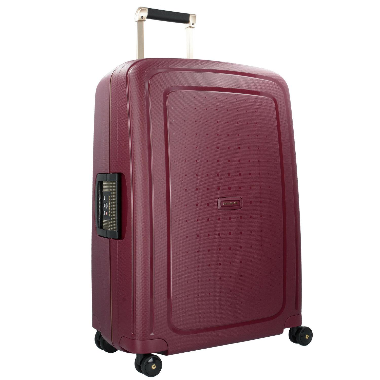 samsonite s 39 cure dlx spinner 4 rollen trolley 75 cm metallic bronze colored koffer. Black Bedroom Furniture Sets. Home Design Ideas