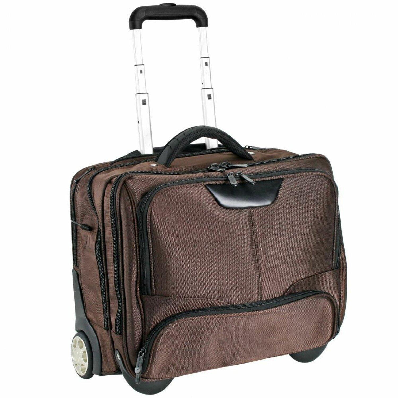 dermata business trolley 43 cm laptopfach braun koffer. Black Bedroom Furniture Sets. Home Design Ideas