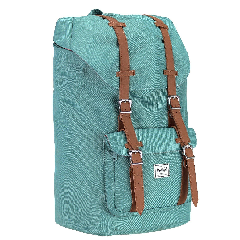 herschel little america backpack rucksack 52 cm laptopfach grey tan synthetic leather koffer. Black Bedroom Furniture Sets. Home Design Ideas