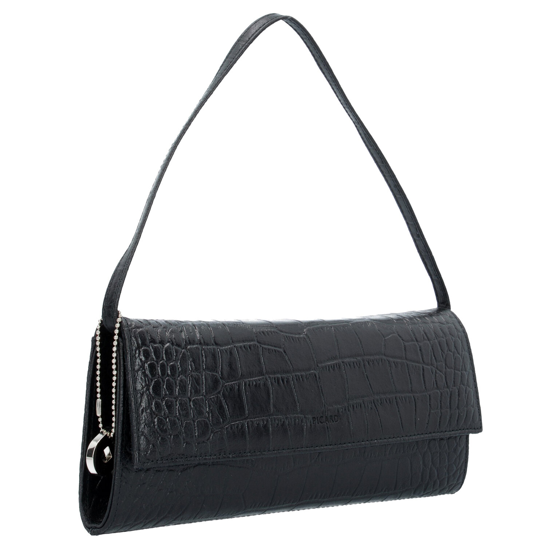 2b3db5617fc9b Picard Auguri Clutch Tasche Leder 26 cm schwarz - lack