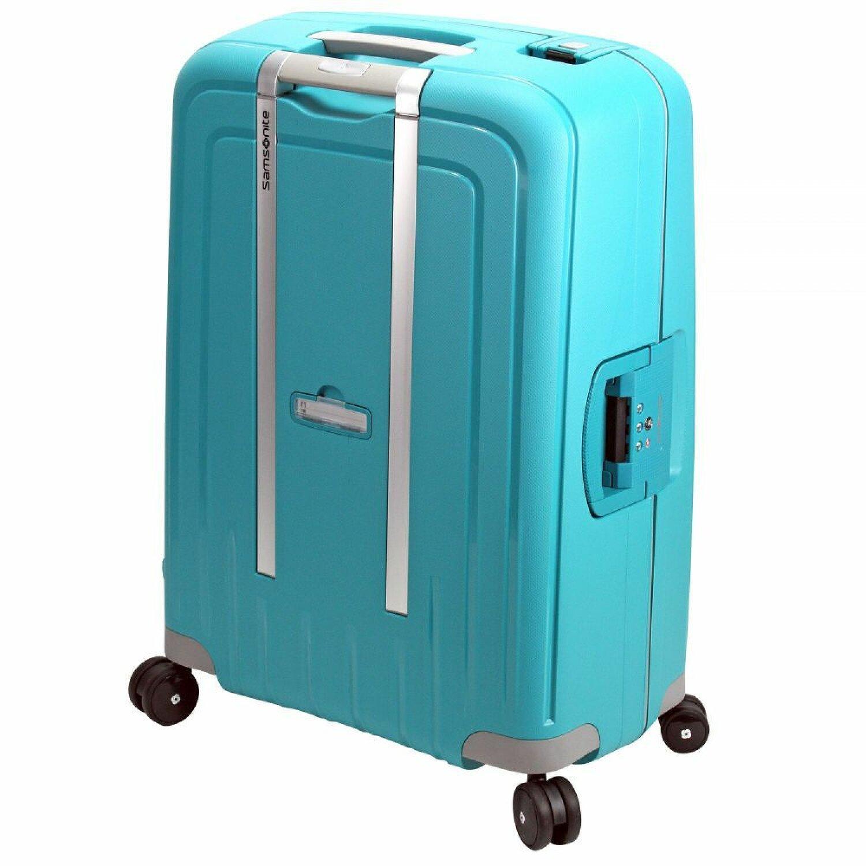 samsonite s 39 cure spinner 4 rollen trolley 75 cm aqua blue koffer. Black Bedroom Furniture Sets. Home Design Ideas