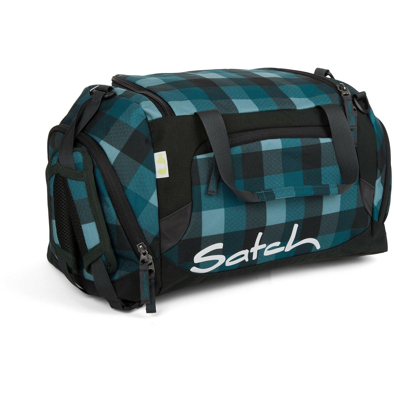 satch pack sporttasche 50 cm blue bytes karo blau grau koffer. Black Bedroom Furniture Sets. Home Design Ideas