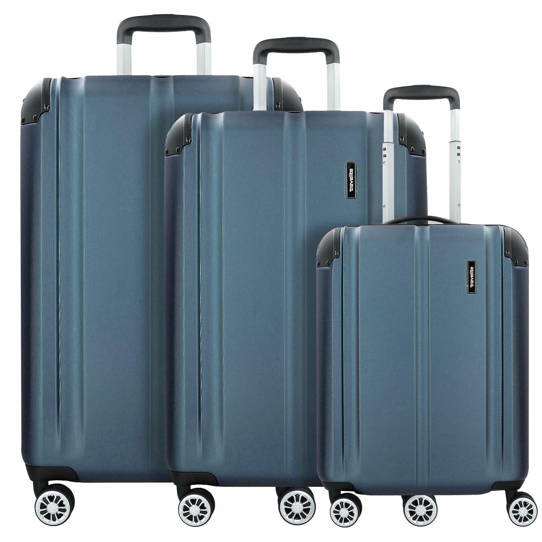 travelite city 4 rollen kofferset 3tlg marine koffer. Black Bedroom Furniture Sets. Home Design Ideas