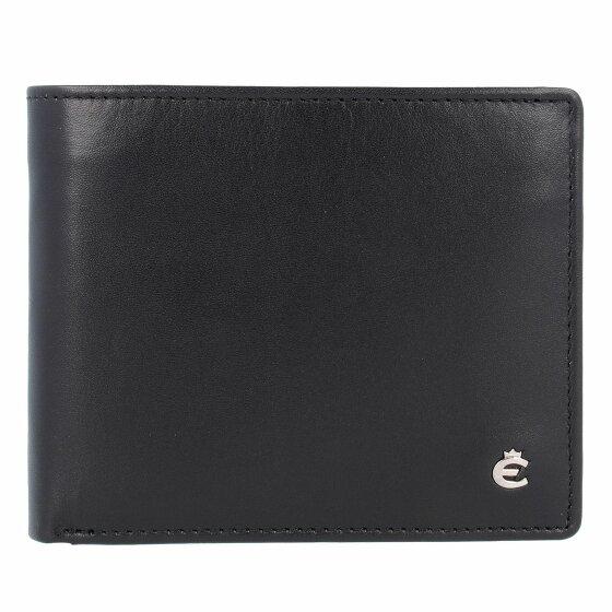 Esquire Harry Geldbörse Leder 11 cm schwarz