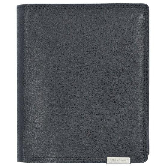 Bodenschatz Pisa Geldbörse Hochformat 20CC Leder 10 cm mit Reißverschlussfach und Doppelklappfach black