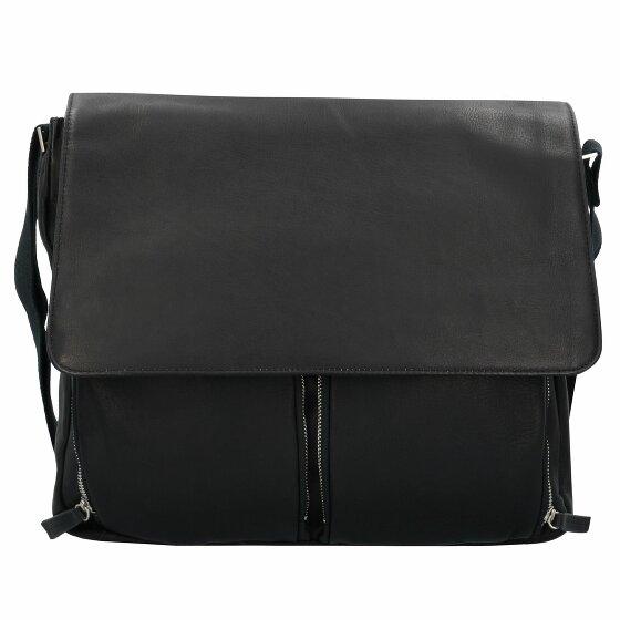 Dermata Umhängetasche Messenger Bag Leder 42 cm black bei Koffer-Arena.de