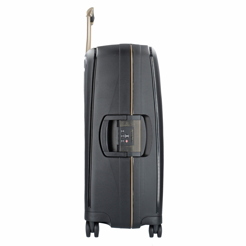 samsonite s 39 cure dlx spinner 4 rollen trolley 69 cm metallic green koffer. Black Bedroom Furniture Sets. Home Design Ideas