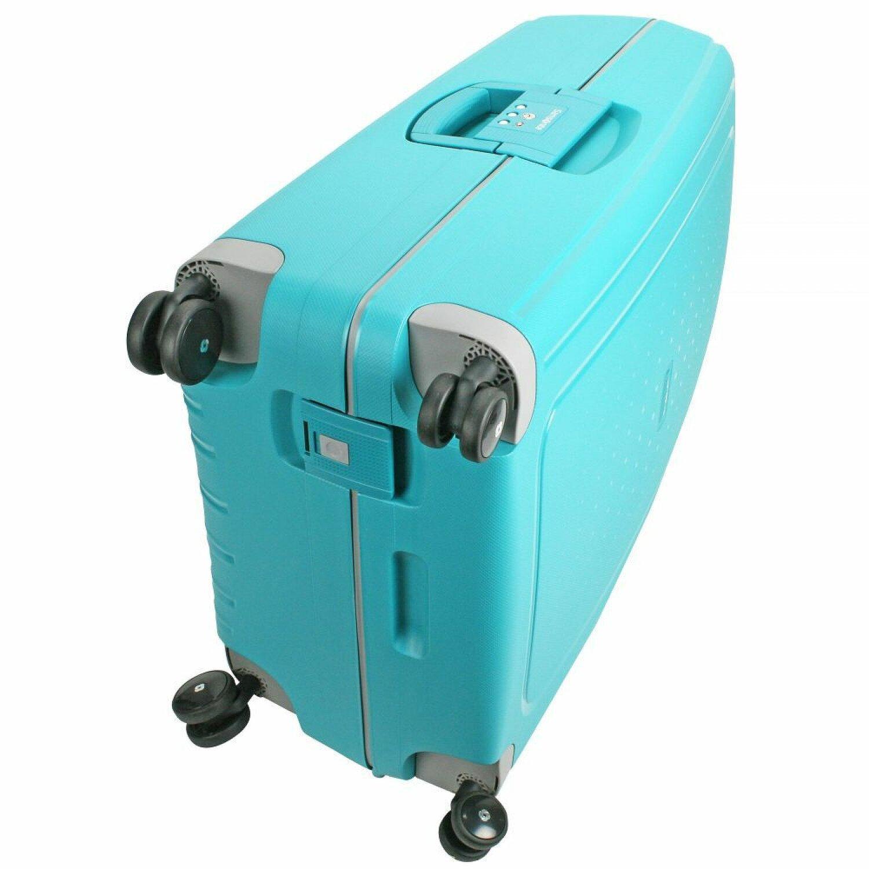 samsonite s 39 cure spinner 4 rollen trolley 75 cm aqua blue. Black Bedroom Furniture Sets. Home Design Ideas