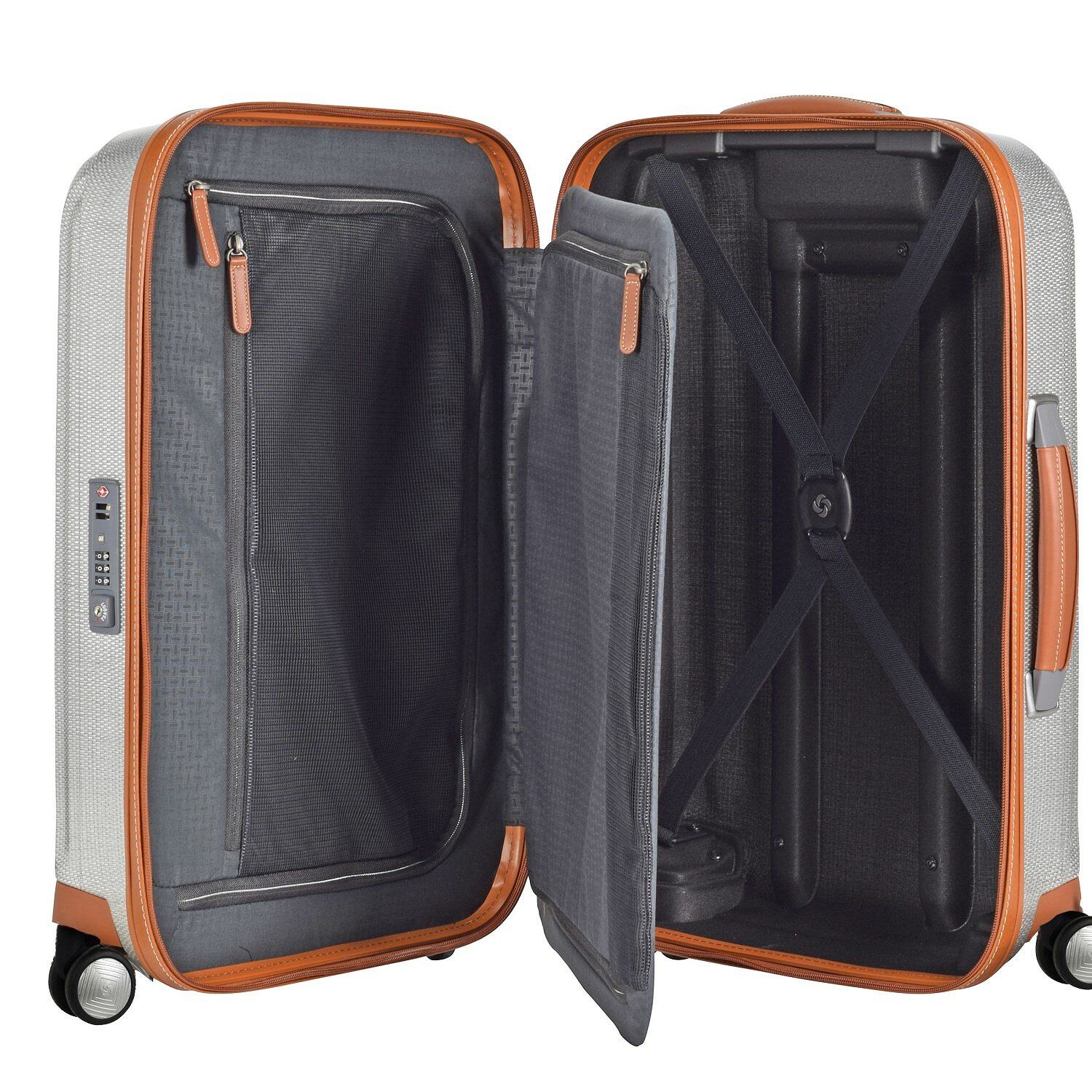 samsonite lite cube dlx spinner 4 rollen kabinentrolley 55 cm aluminiumfarben koffer. Black Bedroom Furniture Sets. Home Design Ideas